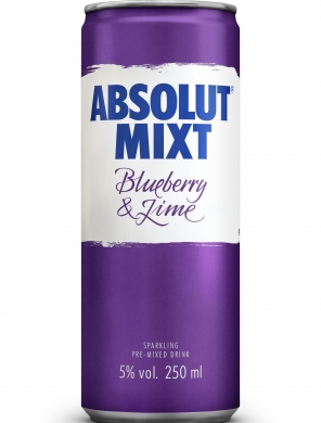 (12kpl) Absolut Mixt Blueberry Lime 5,0% 25cl