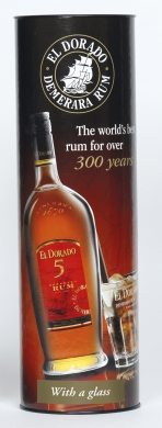 El Dorado Rum 5YO 40% 70cl+glass