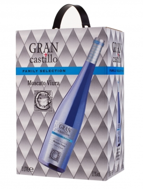 11% Gran Castillo Selection Moscato-Viura Blue 300cl BIB